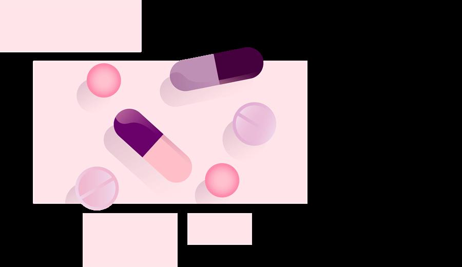 Illustration of a range of medication